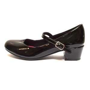 SO Black Patent Leather Mary Jane Shoes, Size 2M
